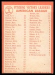 1964 Topps #4 B  -  Whitey Ford / Camilo Pascual / Jim Bouton AL Pitching Leaders Back Thumbnail
