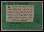 1956 Topps Davy Crockett #45 GRN Davy Has Company   Back Thumbnail