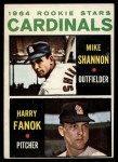 1964 Topps #262   Cardinals Rookie Stars  -  Mike Shannon / Harry Fanok Front Thumbnail