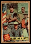 1962 Topps #135 GRN  -  Babe Ruth Babe as a Boy Front Thumbnail