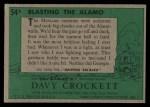 1956 Topps Davy Crockett #54 GRN Blasting the Alamo   Back Thumbnail