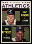 1964 Topps #528  Athletics Rookies  -  Dave Duncan / Tom Reynolds Front Thumbnail