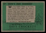 1956 Topps Davy Crockett #51 GRN How's Our Chances?   Back Thumbnail