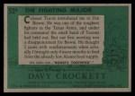 1956 Topps Davy Crockett #52 GRN The Fighting Major   Back Thumbnail