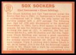 1964 Topps #182  Sox Sockers  -  Carl Yastrzemski / Chuck Schilling Back Thumbnail