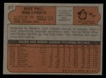 1972 Topps #577   Mike Paul Back Thumbnail