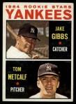 1964 Topps #281   Yankees Rookie Stars  -  Jake Gibbs / Tom Metcalf Front Thumbnail