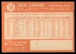 1964 Topps #305  Jack Lamabe  Back Thumbnail