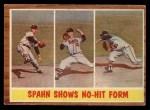 1962 Topps #312   -  Warren Spahn Shows No-Hit Form Front Thumbnail