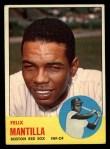 1963 Topps #447  Felix Mantilla  Front Thumbnail