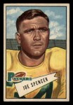 1952 Bowman Small #9   Joe Spencer Front Thumbnail
