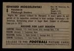 1952 Bowman Small #8  Ed Modzelewski  Back Thumbnail