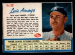 1962 Post Cereal #12   Luis Arroyo  Front Thumbnail