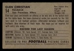 1952 Bowman Small #54  Glen Christian  Back Thumbnail