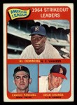 1965 Topps #11   -  Dean Chance / Al Downing / Camilo Pascual AL Strikeout Leaders Front Thumbnail