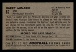 1952 Bowman Small #82  Harry Minarik  Back Thumbnail