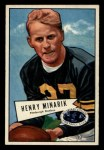 1952 Bowman Small #82  Harry Minarik  Front Thumbnail