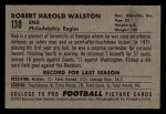 1952 Bowman Small #138  Bob Walston  Back Thumbnail