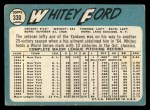 1965 Topps #330   Whitey Ford Back Thumbnail