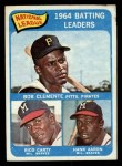 1965 Topps #2  1964 NL Batting Leaders  -  Hank Aaron / Rico Carty / Roberto Clemente Front Thumbnail