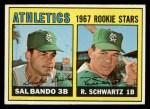 1967 Topps #33   Athletics Rookie Stars  -  Sal Bando / Randy Schwartz Front Thumbnail
