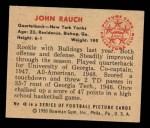 1950 Bowman #48   John Rauch Back Thumbnail