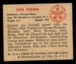 1950 Bowman #62   Bob Perina Back Thumbnail