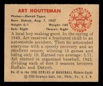 1950 Bowman #42   Art Houtteman Back Thumbnail