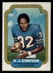 1974 Topps #1  Record Breaker  -  O.J. Simpson  Front Thumbnail
