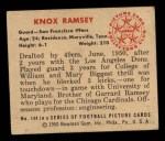 1950 Bowman #144  Knox Ramsey  Back Thumbnail