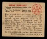 1950 Bowman #141   Gene Roberts Back Thumbnail