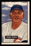 1951 Bowman #282   Frankie Frisch  Front Thumbnail