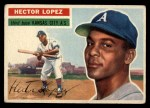 1956 Topps #16   Hector Lopez Front Thumbnail