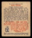 1949 Bowman #27   Bob Feller Back Thumbnail
