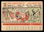 1956 Topps #32   Frank House Back Thumbnail