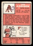 1966 Topps #1   Tom Addison Back Thumbnail