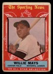 1959 Topps #563  All-Star  -  Willie Mays Front Thumbnail