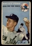1954 Topps #37   Whitey Ford Front Thumbnail