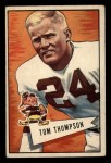 1952 Bowman Small #26   Tommy Thompson Front Thumbnail