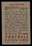 1951 Bowman #87  John Hoffman  Back Thumbnail