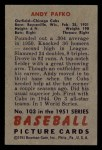 1951 Bowman #103   Andy Pafko Back Thumbnail