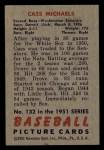1951 Bowman #132  Cass Michaels  Back Thumbnail