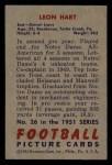 1951 Bowman #26   Leon Hart Back Thumbnail