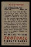 1951 Bowman #85  Jules Rykovich  Back Thumbnail