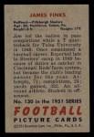 1951 Bowman #130   James Finks Back Thumbnail