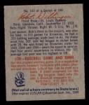1949 Bowman #143 SCR Bob Dillinger  Back Thumbnail