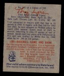 1949 Bowman #141   Tony Lupien Back Thumbnail