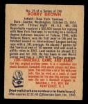 1949 Bowman #19  Bobby Brown  Back Thumbnail