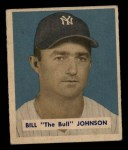 1949 Bowman #129   Billy Johnson Front Thumbnail