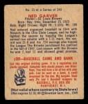1949 Bowman #15   Ned Garver Back Thumbnail